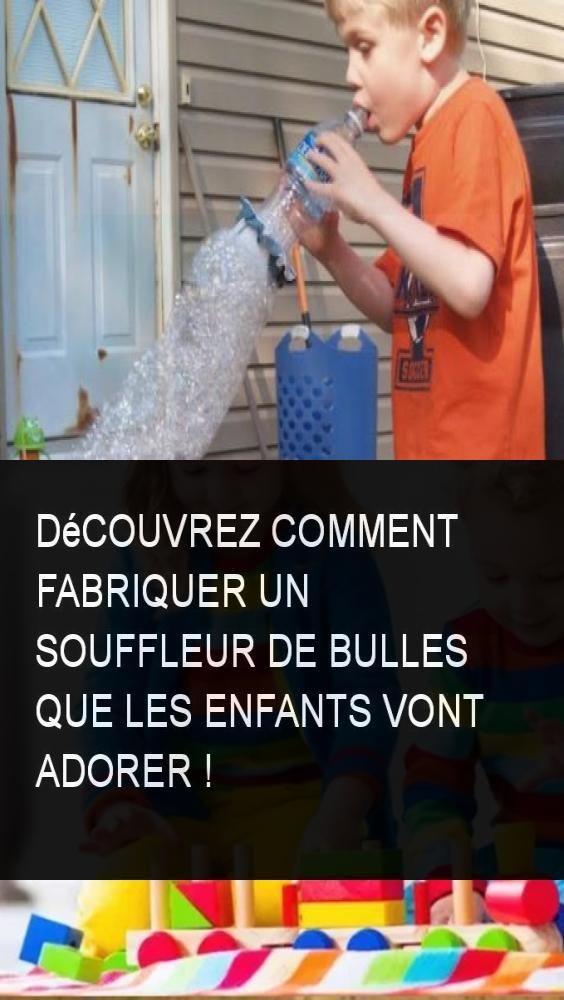 Découvrez comment fabriquer un souffleur de bulles que les enfants vont adorer !