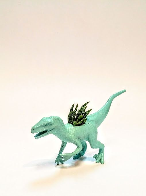 Effie Pots & Co. mint dinosaur planter available at Harold + Ferne: The Local Goods Co.