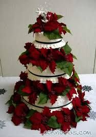 resultado de imagen para pasteles con flor de navidad