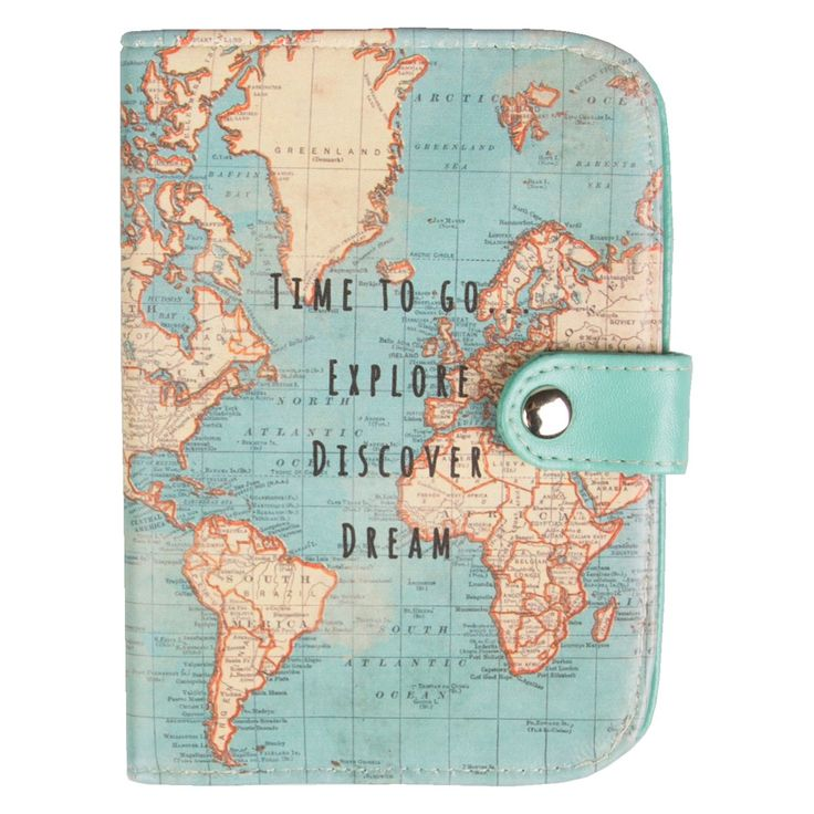 155 best world images on pinterest travel luggage packing and vintage map time to go passport holder gumiabroncs Images