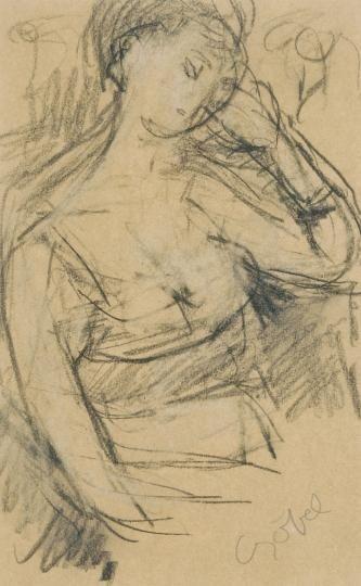 Béla Czóbel, Resting woman