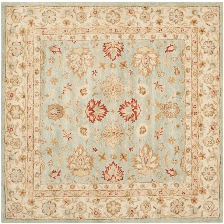 antiquity grey bluebeige 10 ft x 10 ft square area rug