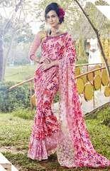 Pink Color Georgette Designer Party Wear Sarees : Kalisha Collection YF-64121