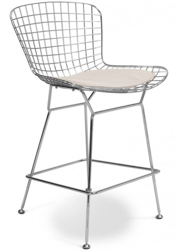 Crème Assise Chair ToupieIdees Cuir Haute Métal Chaise Maison qUpGSzMV
