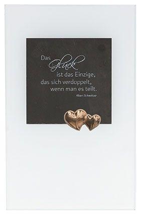 Schieferrelief Auf Mattglas Das Gluck Hochzeitsgeschenke Pinterest