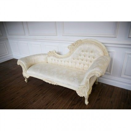Chaise Lounge, French Ornate Cream