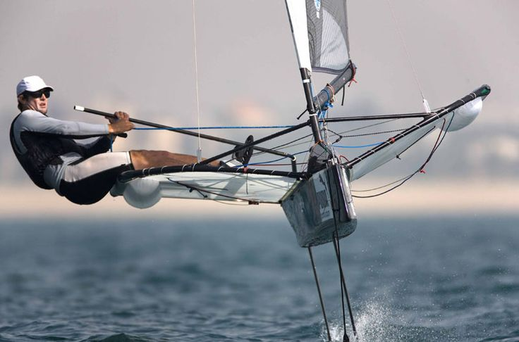 Moth sailing,  My Uncle used to do this
