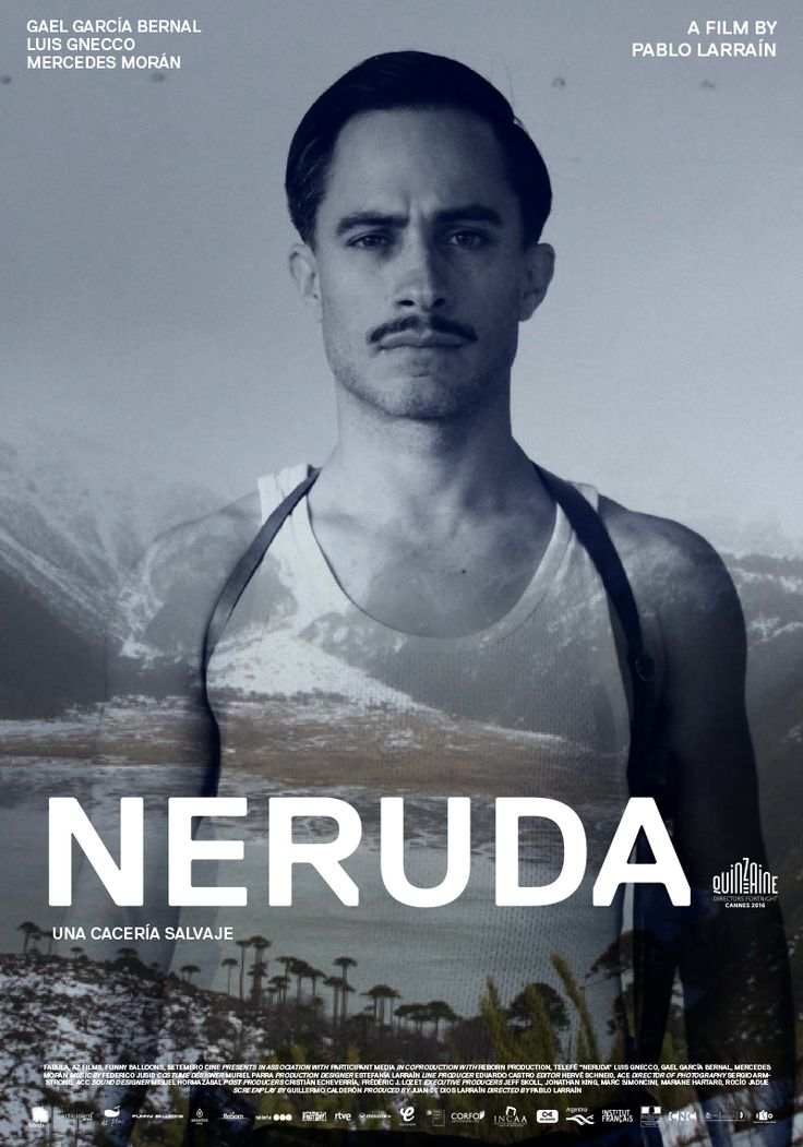 NERUDA (2016), soulful poet, became a fugitive in Chile for being Communist. Trailer: https://www.youtube.com/watch?v=UwdpkvuWGuQ&feature=share Great reviews.