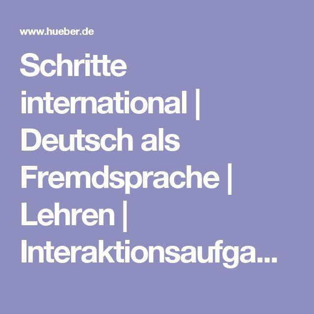 Schritte international | Deutsch als Fremdsprache | Lehren | Interaktionsaufgaben
