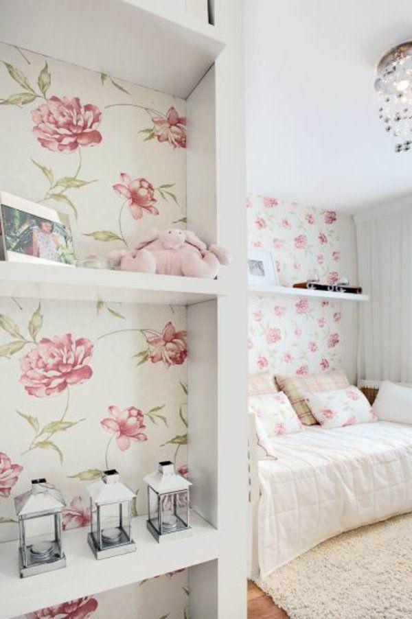 Die besten 25+ Rosentapete Ideen auf Pinterest Tumblr - wandgestaltung für schlafzimmer