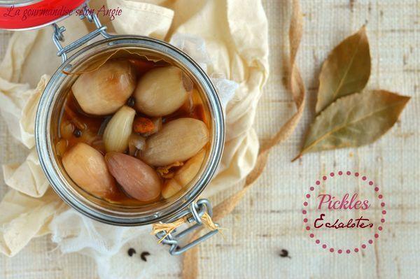 pickles échalotes vinaigre épices