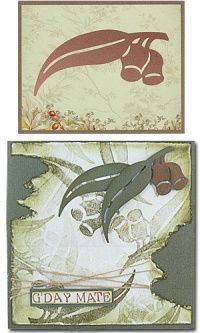 ultimate crafts australiana collection gumnuts cards