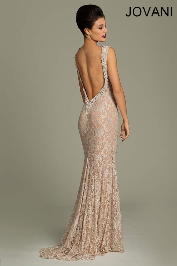 Open back Jovani lace gown- I want this for centennial so ... - photo #22