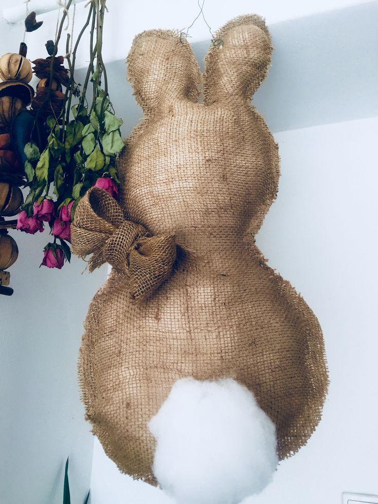 Easter bunny diy (door decoration)