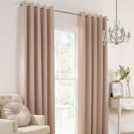 Add A Simple Touch Of Elegance To Your Bedroom With These Plain Satin Ready  Made Curtains, Finished In Neutral Champagne Colourway.