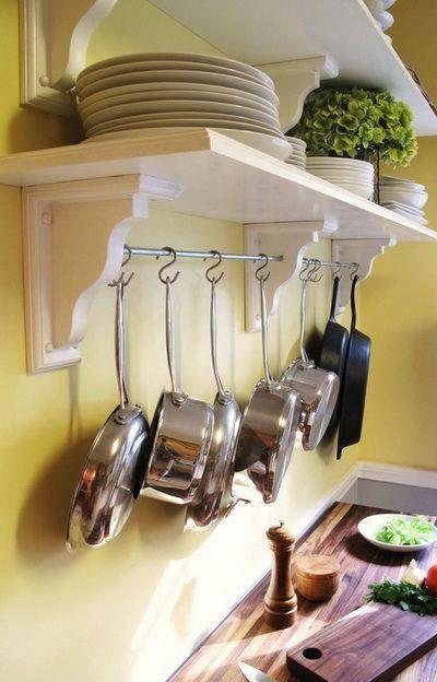 Las 25 mejores ideas sobre ollas para colgar en pinterest for Como ordenar la cocina