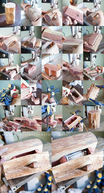 How to Make a Secret Log Box www.BrooklynLimestone.com by MrsLimestone, via Flickr