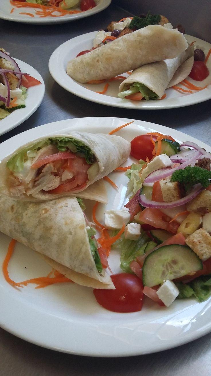 Healthy #ostrich or chicken wraps #safari #ostrich-cafe
