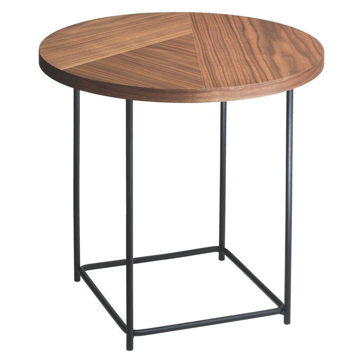 CORALIE Walnut side table