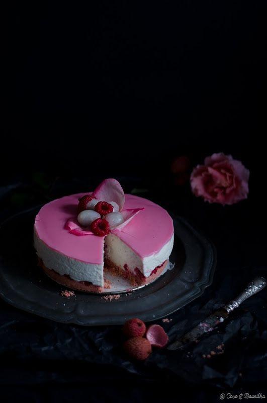 Coco e Baunilha: Cheesecake Ispahan - líchia, rosa e framboesa