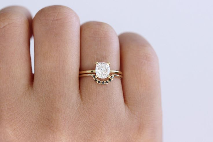 Solitaire Cushion Diamond Engagement Ring - 0.8 Carat Diamond Ring - 18k Gold by artemer on Etsy https://www.etsy.com/listing/267717850/solitaire-cushion-diamond-engagement