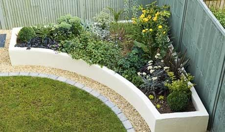 LOVE the raised planter - around the fence