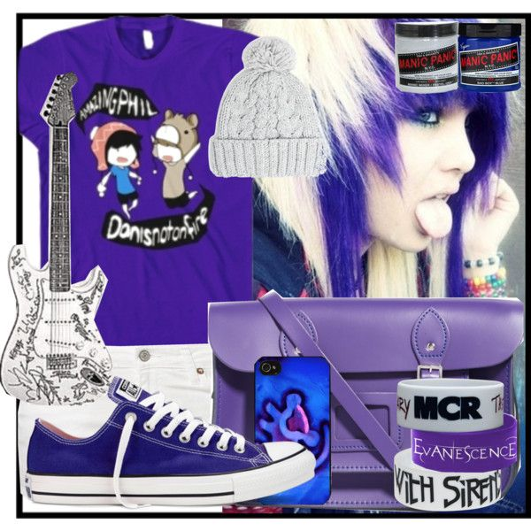 """""""Purple and White!"""" by designergirl2000 on Polyvore"""