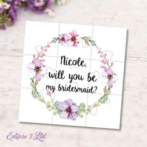 Serás mi Dama de honor ser mi niña de las flores propuesta