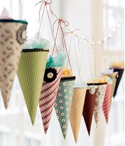 For a party...it's a way to display the favors & have them double as a decoration