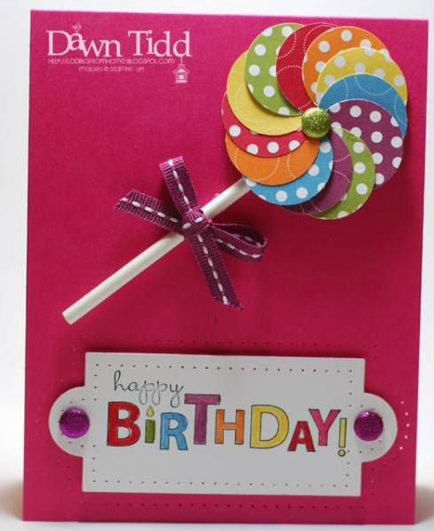 Lots and lots of circle punched pieces make a lollipop.  Dawn Tidd