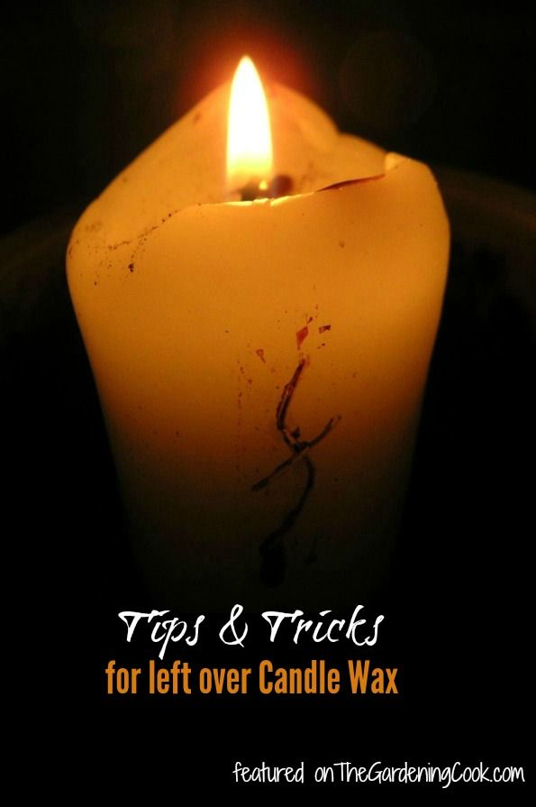 Don't throw those partly used candles away!  Use my Tips and Tricks for using left over candle wax - http://thegardeningcook.com/candles-tips-and-tricks/