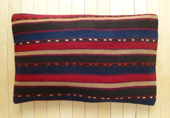 Beautiful Hand woven Lumbar Pillow cover by PillowTalkOnEtsy, $36.00