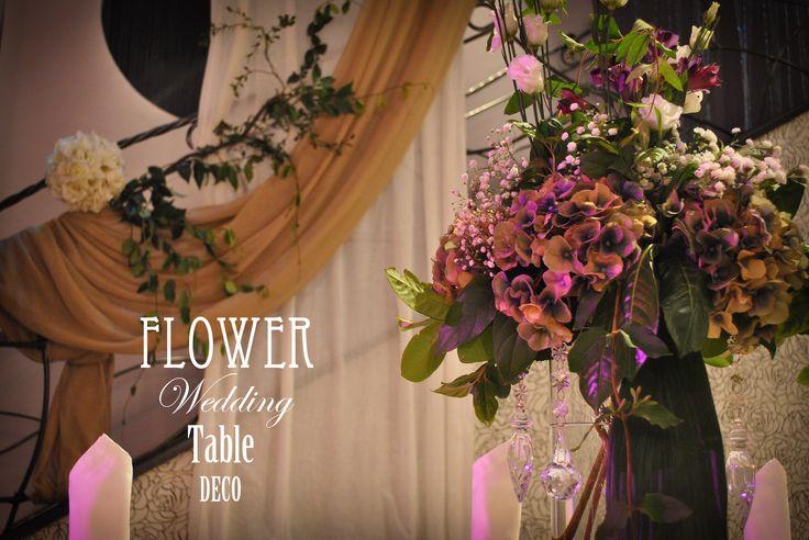 ~Summer flower wedding table decoration