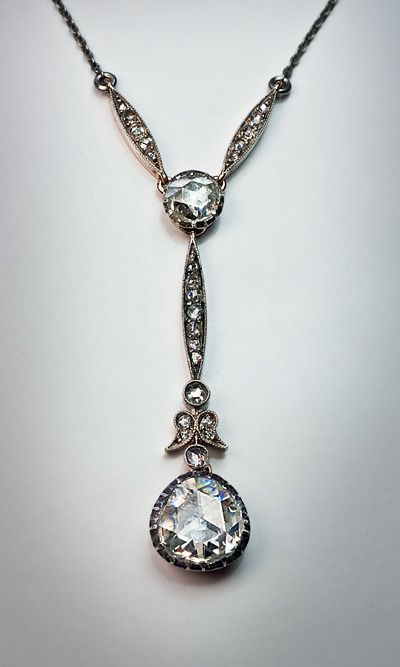 Best 600 jewelry unsignedmisc images on pinterest ancient antique rose cut diamond necklace mozeypictures Gallery