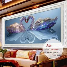 5d mozaïekkunst diy handwerken schilderij diamant strass geplakt diamant bruiloft kruissteek serie diamant zwaan borduurwerk(China (Mainland))