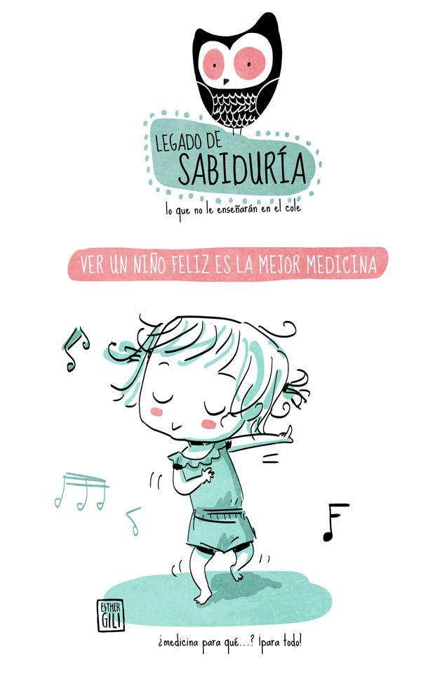 Nos ha encantado esta ilustración de Esther Gili para www.39semanas.com Los niños nos alegran los días, ¿verdad?