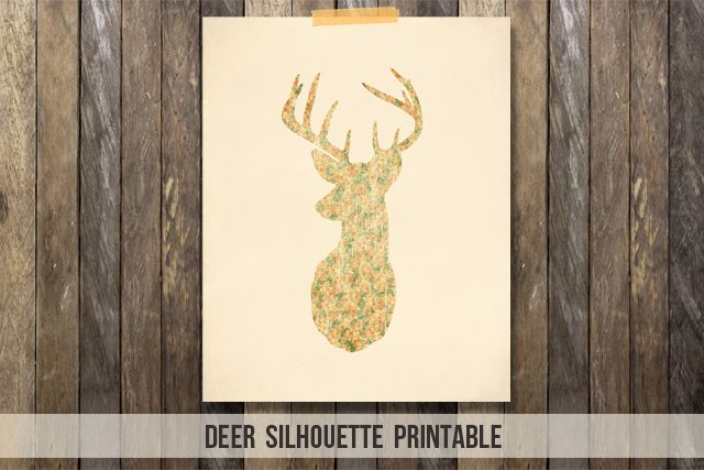 Fabulous and Free Deer Silhouette Printable with vintage florals!