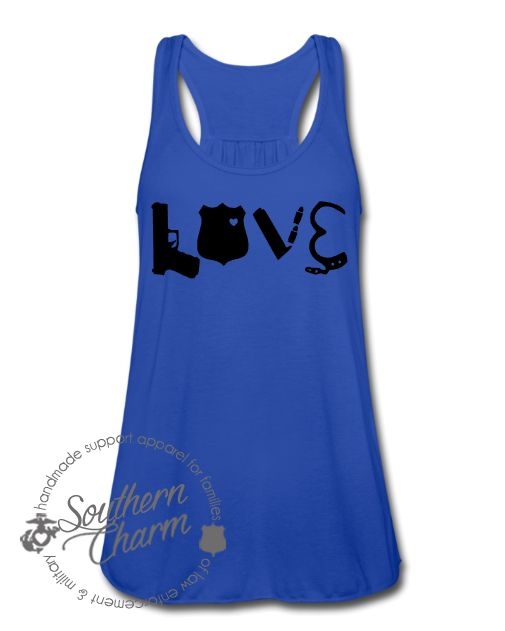 Southern Charm Designs Love Police Gear Top