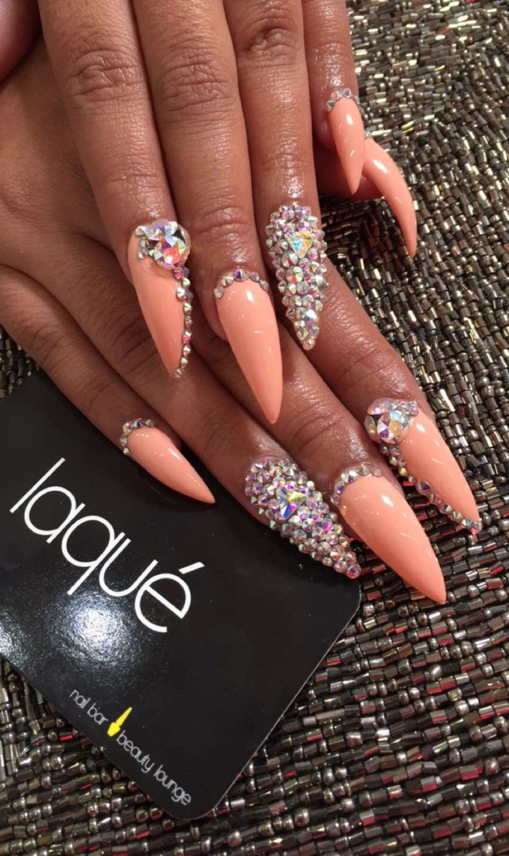 Coral stilettos nails - 77 Best Cute Girly Nails Images On Pinterest Nail Art, Nail Design