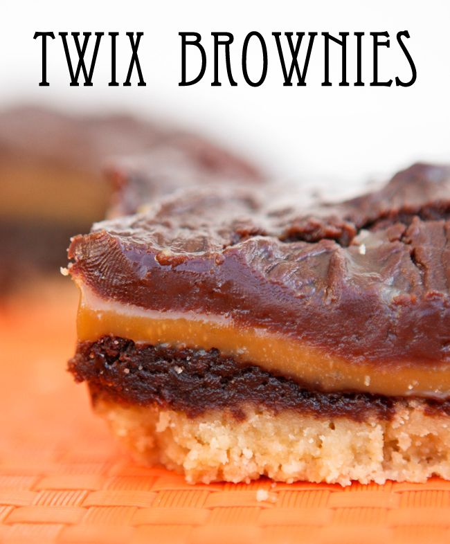 Twix BrowniesDesserts, Caramel Cookies, Sweets Treats, Pip Ebby, Brownies Recipe, Brownies Yummy, Twix Brownies, Favorite Recipe, Cookies Crunches Brownies