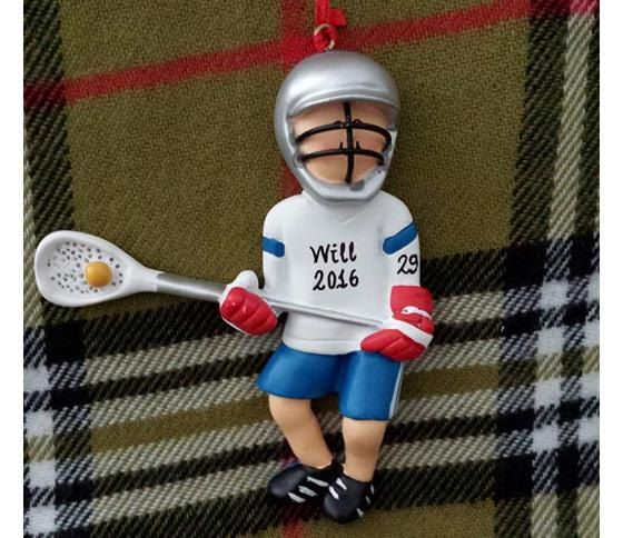 Personalized Male Lacrosse Player Gift  Lacrosse Birthday