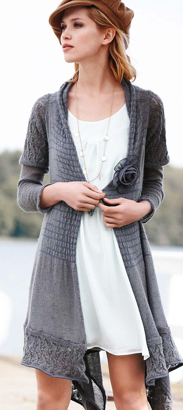 lace grey cardigan...shabby chic