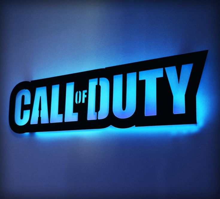 40 led lighted call of duty inspired wall art cod video