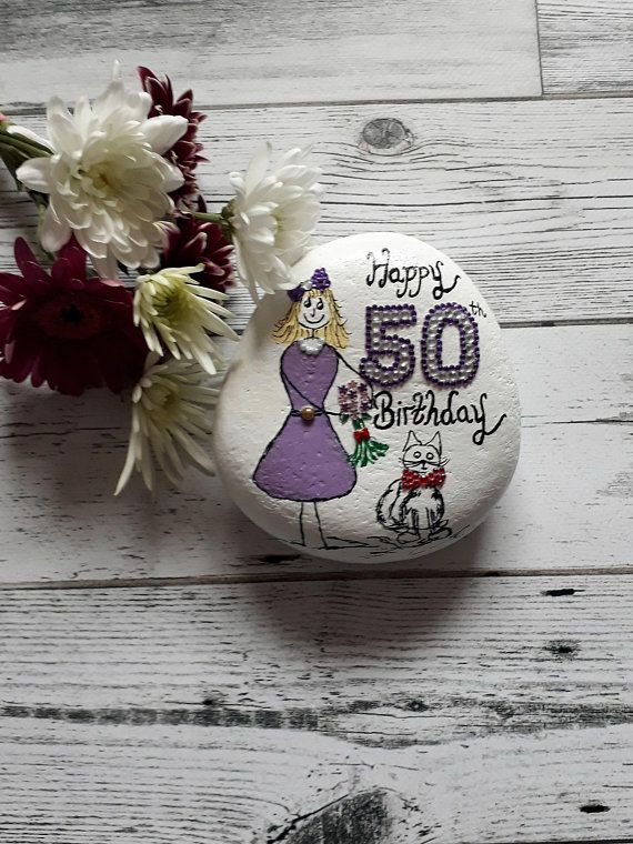 50th Birthday Gifts Keepsake For Her Pebble Friends