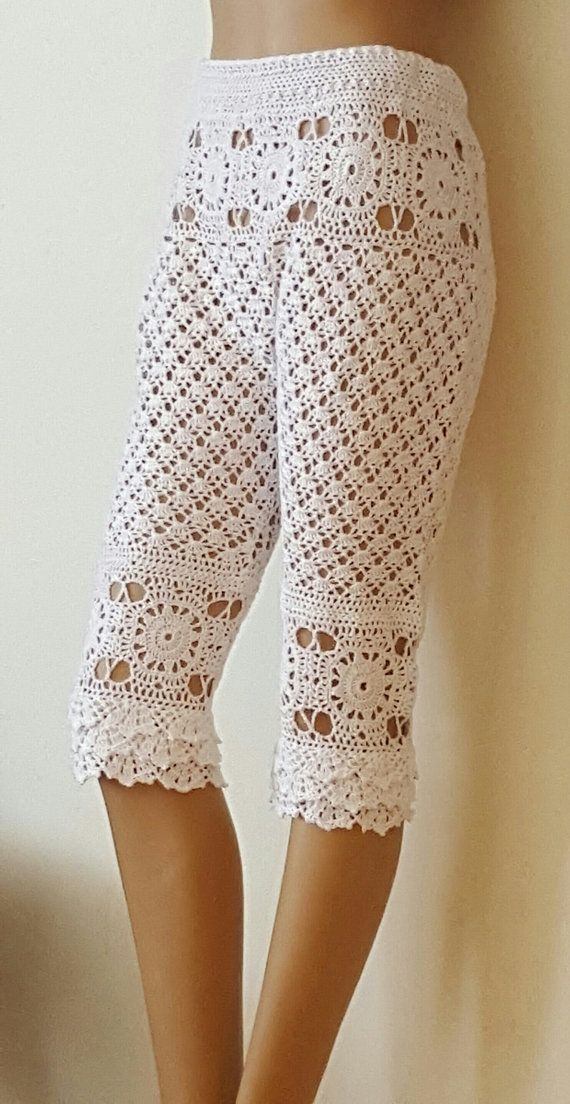 Elegant Lace Crocheted Capris   Made to by HeirloomsbyAntonia