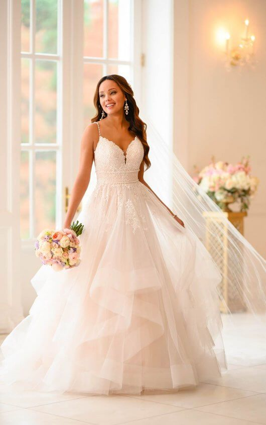 Tiered Tulle Princess Ballgown – Stella York Wedding Dresses