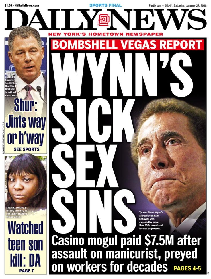 Billionaire casino mogul Steve Wynn preyed on female employees for decades - forcing sex on a manicurist and pressuring a masseuse to pleasure him, according to a new report from the Wall Street Journal.