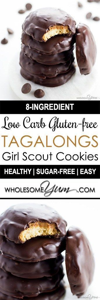 Tagalongs Cookies Recipe – Low Carb Gluten-Free Girl Scout Cookies - This copycat Tagalongs cookies recipe is easy to make and tastes just like the real ones! They'll be your favorite low carb gluten-free Girl Scout Cookies recipe.