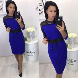 Платье средней длины с кружевным верхом, синее https://privately.ru/odezhda/zhenskaya-odezhda/platya/plate-sredney-dliny-s-kruzhevnym-verhom-sinee/  Цена: Р1320.00