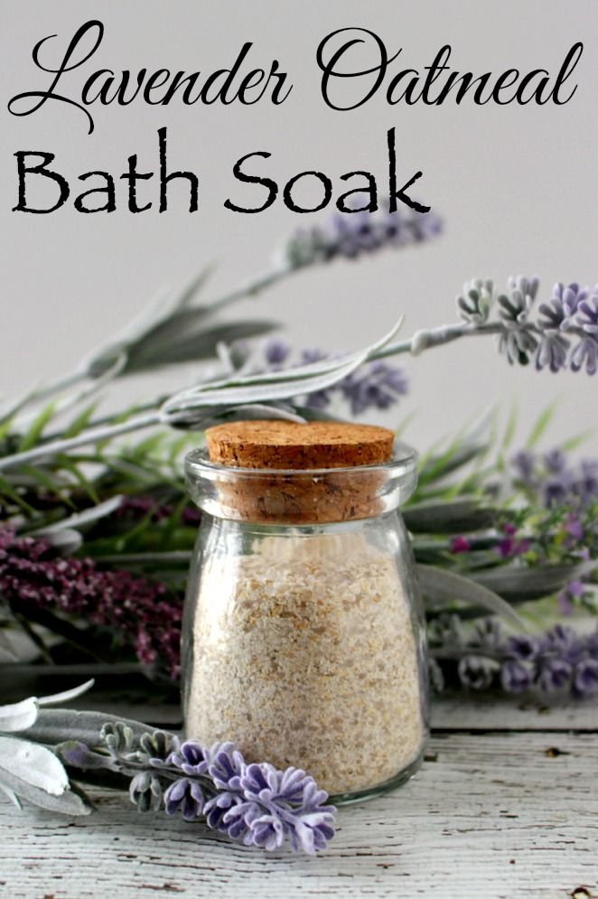 Lavender Oatmeal Bath Soak -  Easy to make and great for your skin